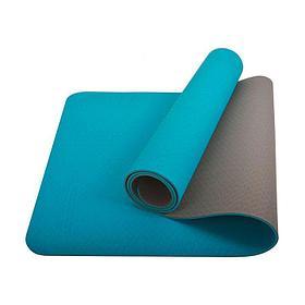 Коврик гимнастический двухстороний 6мм (цвета в ассортименте)