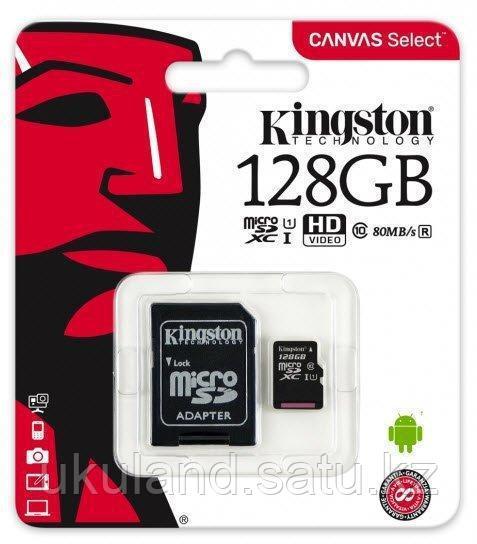 Карта памяти MicroSD 128GB Class 10 U1 Kingston SDCS/128GB