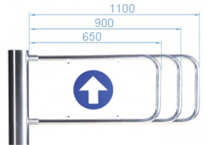 Створка калитки PERCo-AG-1100, 1100 мм, для калитки PERCo-WMD-05