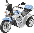 Детский электро-мотоцикл AIM BEST MD-1188 (6V/4Ah*1, 90х43х54 см, White-Blue)
