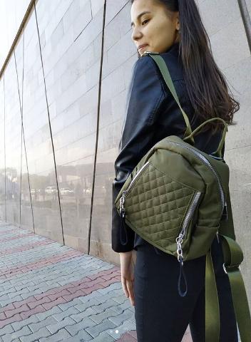 Женская мини-рюкзак хаки