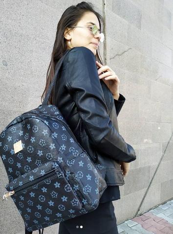 Женская рюкзак темно-синий
