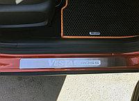 Накладки на пороги хром Лада Веста Cross, фото 1