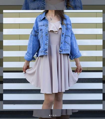 Женская джинсовая куртка с вышивкой