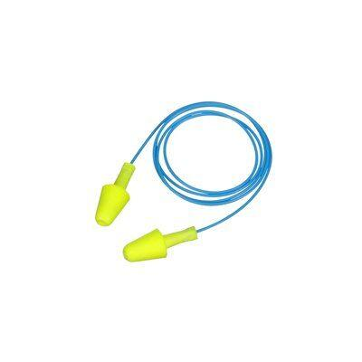 Противошумные вкладыши 3M™ E-A-R™ HA 328-1001 с двумя уровнями SNR, сертификат CE, со шнурком, упаковка — картонная коробочка, жёлтые/синие, 125 пар в
