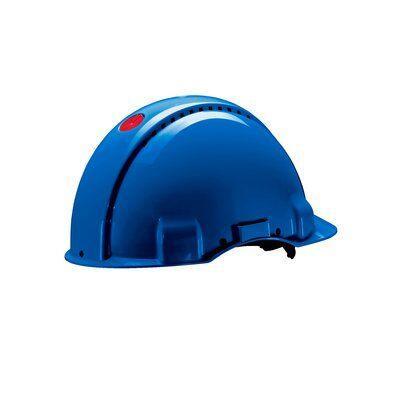 Защитная каска 3M™, Uvicator, штифтовый замок, с вентиляцией, пластиковая налобная лента, синий цвет, G3000CUV-BB