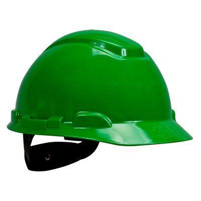 Каска защитная 3M™ H-701N-GP без вентиляции, с храповиком, цвет зеленый