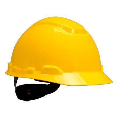 Каска защитная 3M™ H-701N-GU без вентиляции, с храповиком, цвет желтый
