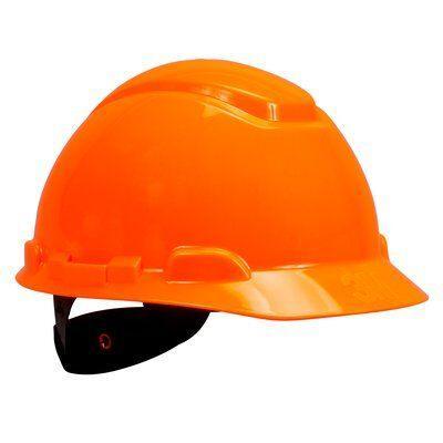 Каска защитная 3M™ H-701N-OR без вентиляции, с храповиком, цвет оранжевый