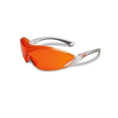 2846 Защитные очки, оранжевая линза, c защитой от царапин и запотевания