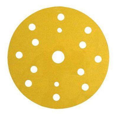 Абразивные диски 3М™ Hookit™ серии 255P+ золотистые, 15 отверстий ø150 мм, P100, LD861A