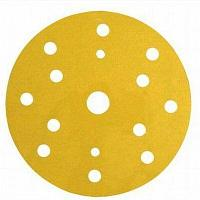 Абразивные диски 3М™ Hookit™ серии 255P+ золотистые, 15 отверстий. ø150 мм, P400, LD861A