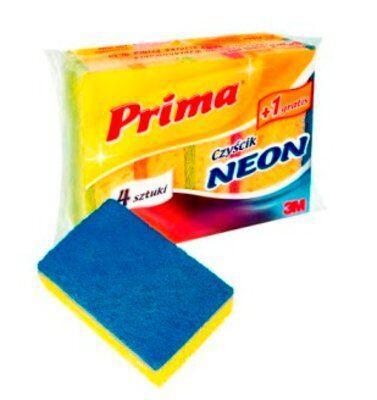 Губка Prima Neon 4+1