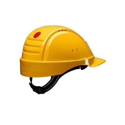 Защитная каска G2000NUV-GU с оголовьем, желтого цвета, с индикатором износа