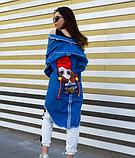 Женская джинсовая куртка удлиненная, фото 2