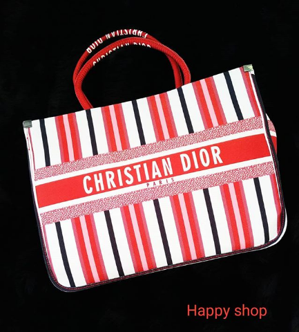 Женская сумка Dior бело-красная