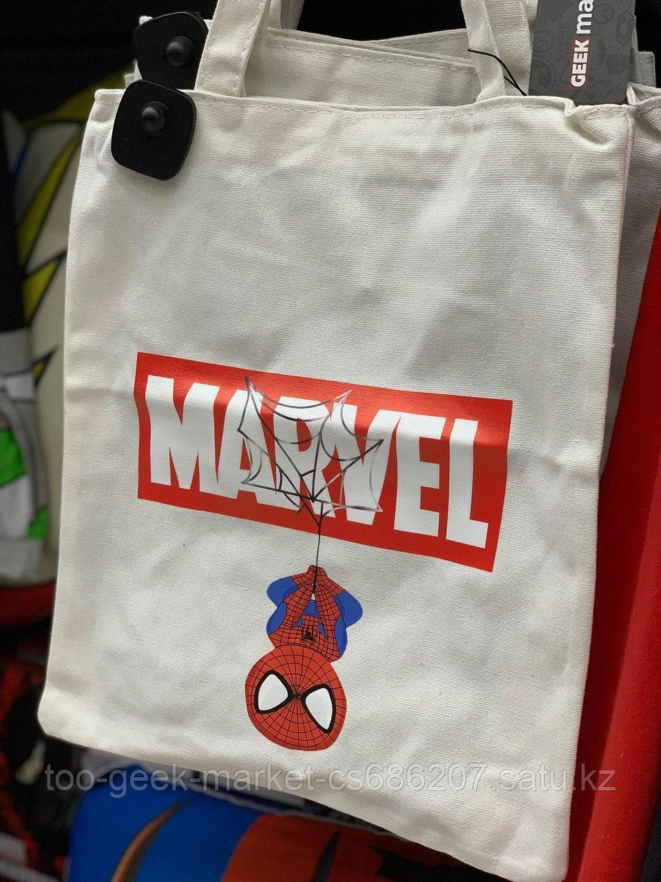 """Шоппер """"MARVEL: Человек-паук"""" (белый)"""