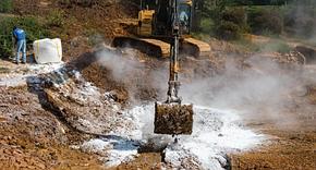 Материалы для борьбы с разливами на почве, земле и Биовосстановление