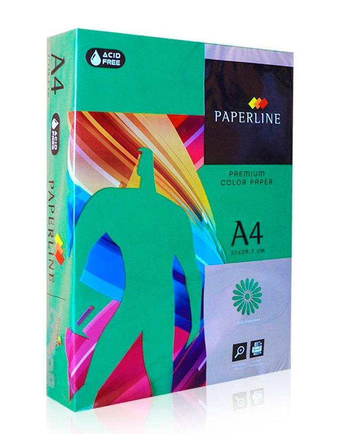 Бумага А4, темно зелёная, 160гр, 250л, ASPARAGUS 41A, Paperline