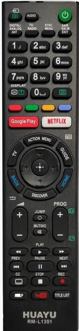Универсальный пульт ДУ для телевизоров Sony HUAYU RM-L1351 (черный)