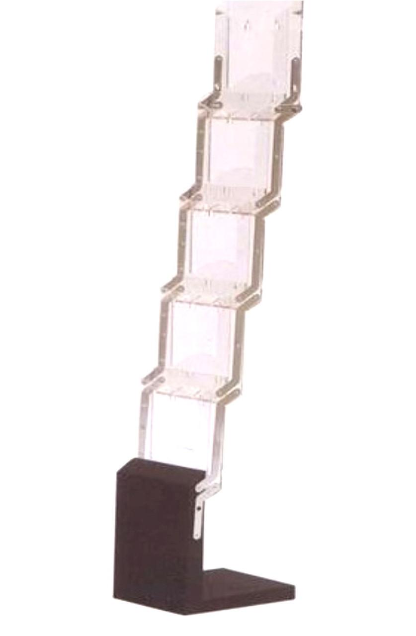 Буклетница с металлическим основанием
