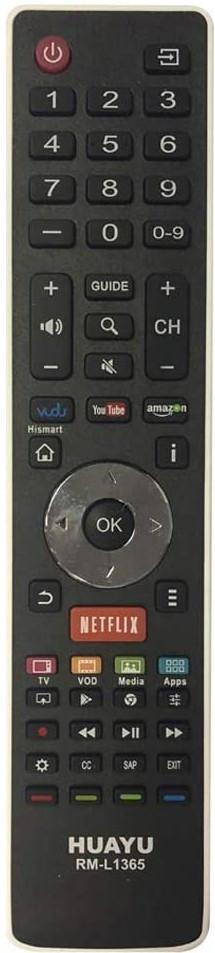 Универсальный пульт ДУ для телевизоров Hisense HUAYU RM-L1365 (черный)