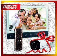 Комплект Видеодомофона Optimus VM-Е10 (w)+ вызывная панель Optimus DS-700 Медь