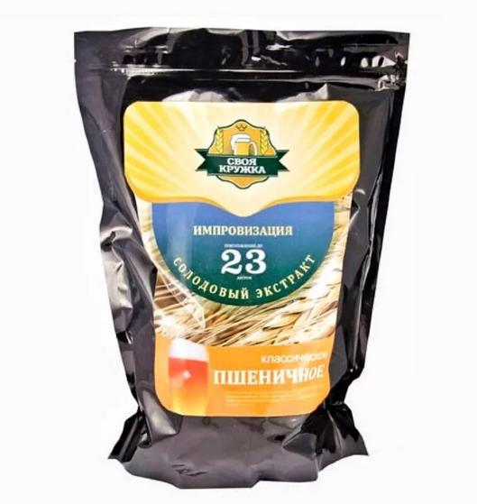 """Солодовый экстракт Своя Кружка Импровизация """"Пшеничное классическое"""", 2,1 кг"""