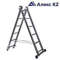 Лестница алюминиевая  AL 207, 2 -х секционная, универсальная