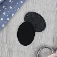 Заплатка для одежды 'Овал', 4,2 x 3 см, термоклеевая, цвет чёрный (комплект из 20 шт.)