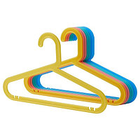 Плечики детские БАГИС 8 шт. разные цвета ИКЕА, IKEA, фото 1