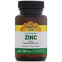 БАД Цинк хелатный 50 мг Country Life (180 таблеток)