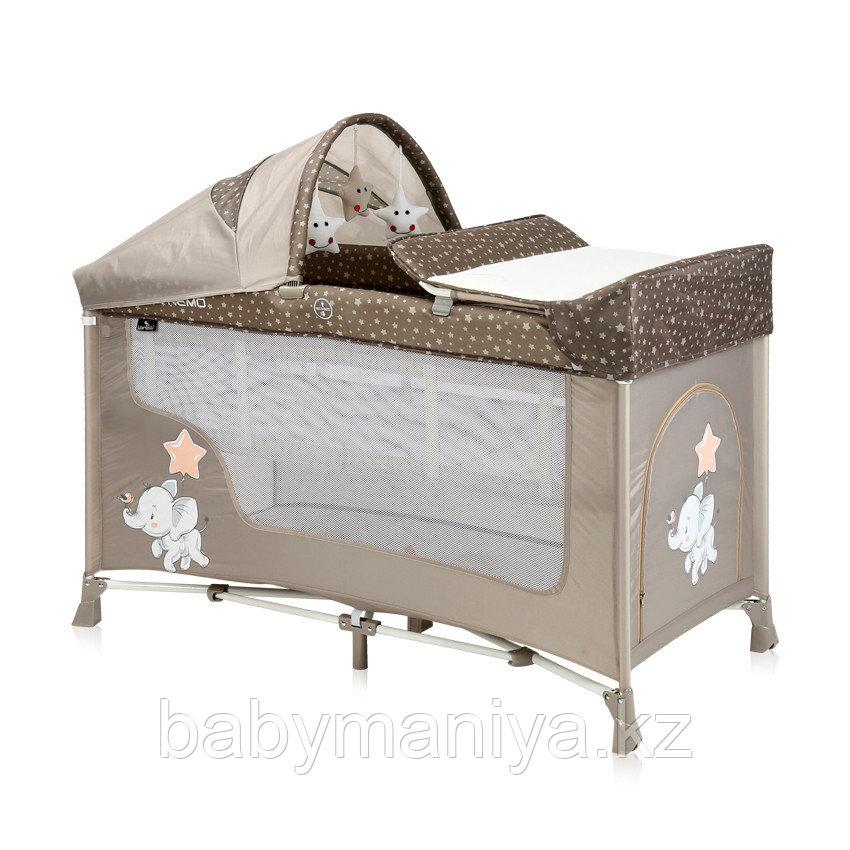 Кровать-манеж Lorelli San Remo 2 Plus Бежевый / Beige Elephant 2071