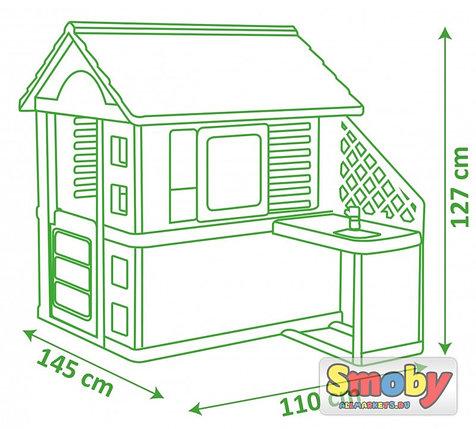 Игровой домик с кухней Синий, 145*110*127см, фото 2