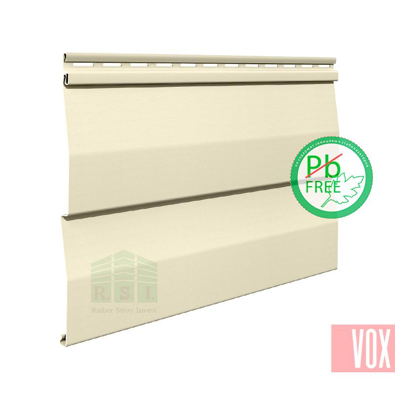 Сайдинг виниловый VOX SV-01 Unicolor (кремовый)