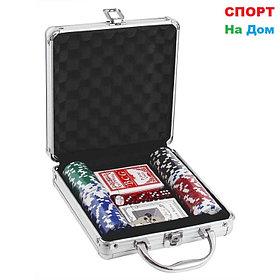 Покерный набор в кейсе 100 фишек