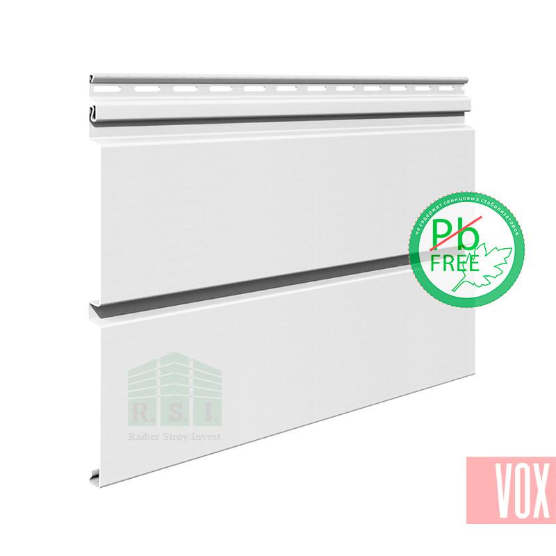 Сайдинг виниловый VOX SV-05 Vifront Unicolor (белый)