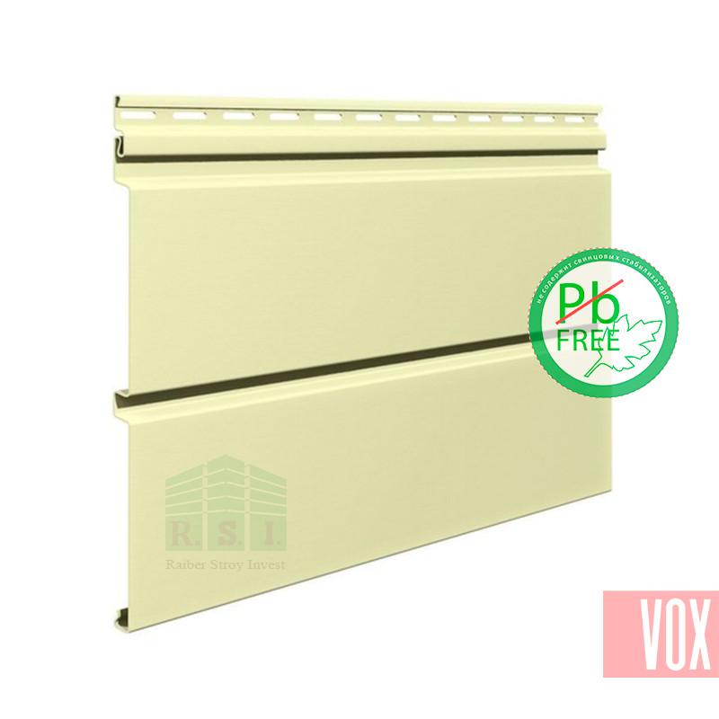 Сайдинг виниловый VOX SV-05 Vifront Unicolor (кремовый)