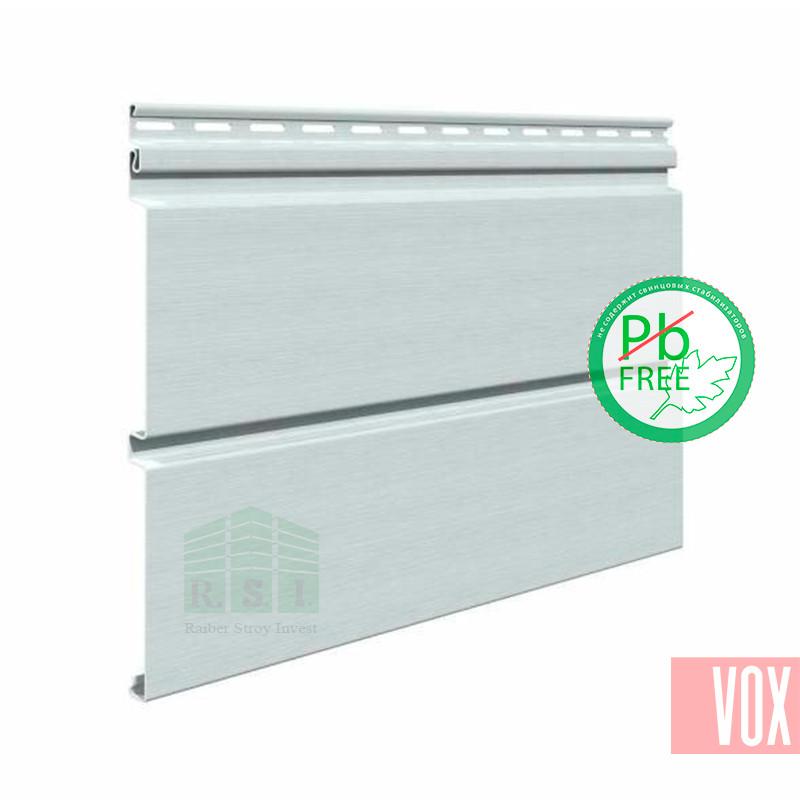 Сайдинг виниловый VOX SV-05 Vifront Unicolor (светло-серый)