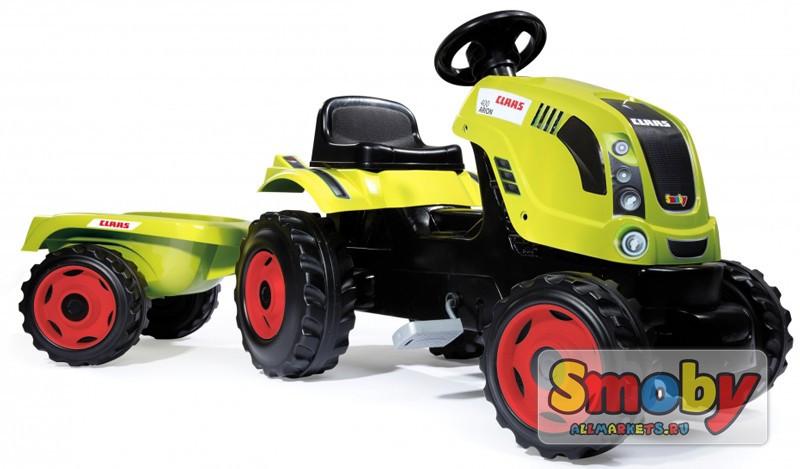 Трактор педальный с прицепом XL, зеленый 142*44*54,5см