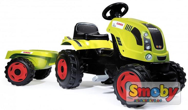 Трактор педальный с прицепом XL, зеленый 142*44*54,5см, фото 2