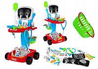 Детский игровой набор Доктора с тележкой 22 аксессуара