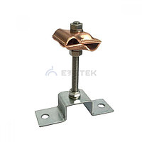 Держатель-зажим соединительный круглого проводника 8-10 мм опорный, медный