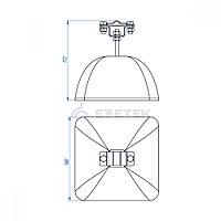 Держатель полоса/пруток для плоской кровли, оцинк. с бетоном 3.5 кг, фото 1