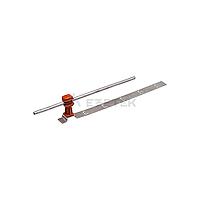 Держатель проводника круглого 6-8 мм для черепичной кровли коричневый, оцинк.