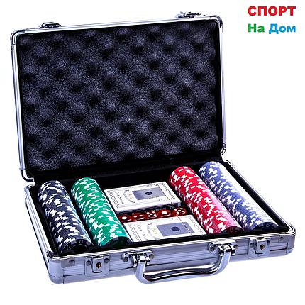 Покерный набор в кейсе 200 фишек, фото 2