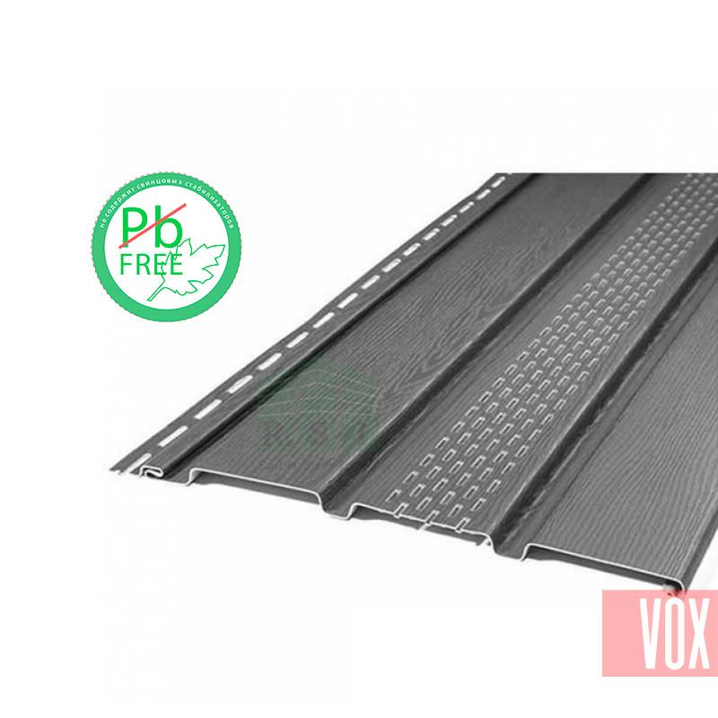 Софит виниловый VOX VSV-07 Vilo (с перфорацией, графит)