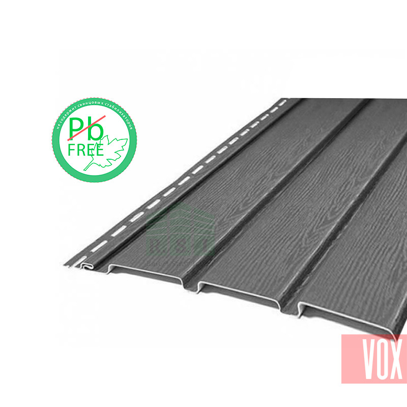 Софит виниловый VOX VSV-08 Vilo (без перфорации, графит)