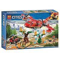 Конструктор Пожарный самолёт LARI арт.11214 (аналог Lego City 60217)