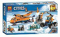 """Конструктор Bela """"Cities"""" (Арт.10996) Арктический грузовой самолет, - Аналог Lego City (Лего Сити) 6019"""